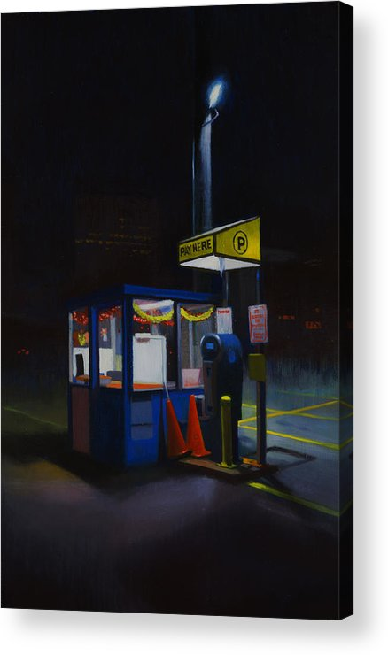 City Acrylic Print featuring the painting Central Parking by Brad Davis