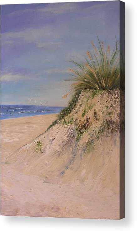 Dune Acrylic Print featuring the painting Chesapeake Bay Dune by Barbara Harper