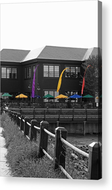 Boardwalk Acrylic Print featuring the photograph Colorful Boardwalk by Becca Brann