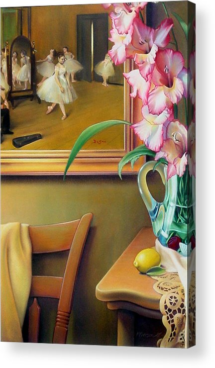 Degas Acrylic Print featuring the drawing Dancing With Glads by Patrick Anthony Pierson