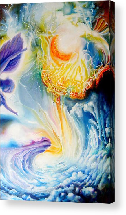 Cosmic Acrylic Print featuring the painting En Route To A Celebration by Leonard Aitken