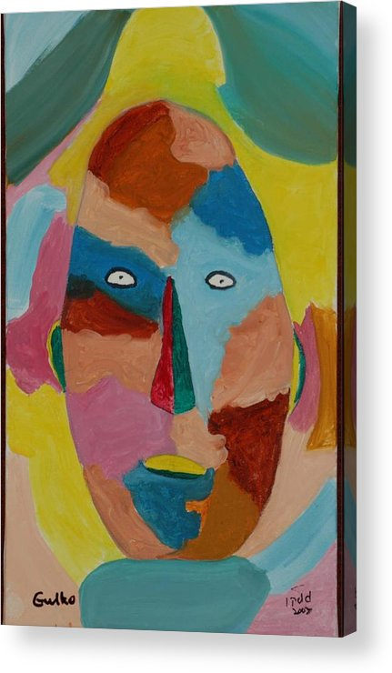 Mask Acrylic Print featuring the painting Face In Limbo by Harris Gulko