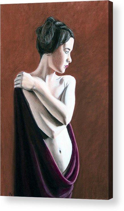 Joe Ogle Acrylic Print featuring the painting Flow by Joseph Ogle