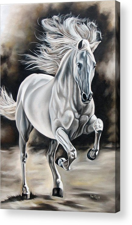 Horse Acrylic Print featuring the painting Hereje by Ilse Kleyn