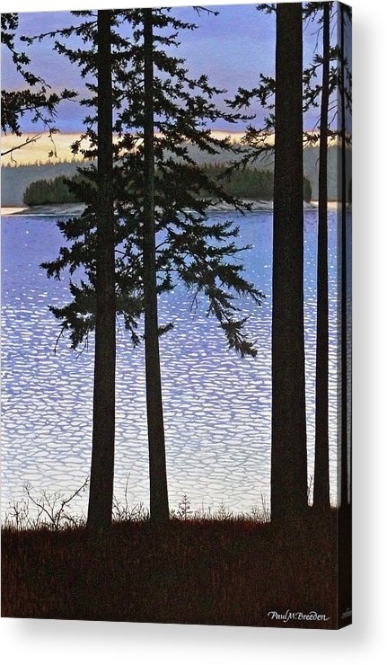 Paul Acrylic Print featuring the painting Maine Sparkle by Paul Breeden