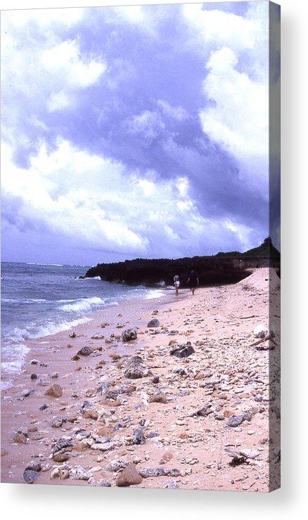 Okinawa Acrylic Print featuring the photograph Okinawa Beach 15 by Curtis J Neeley Jr
