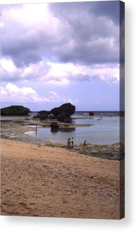 Okinawa Acrylic Print featuring the photograph Okinawa Beach 3 by Curtis J Neeley Jr