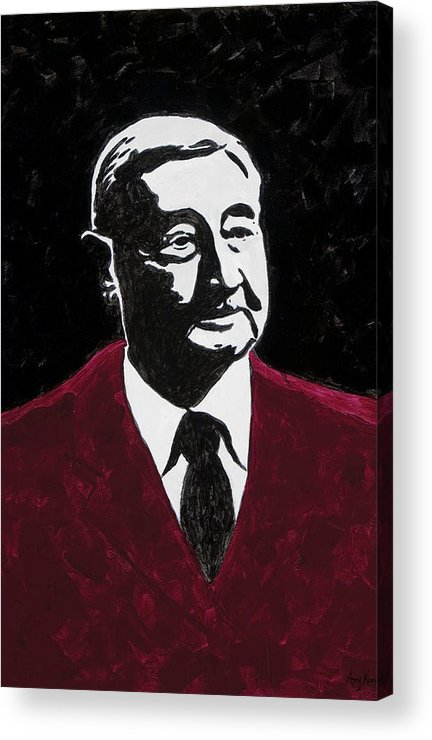 Voice Of The Razorbacks Acrylic Print featuring the painting Paul Eells by Amy Parker Evans