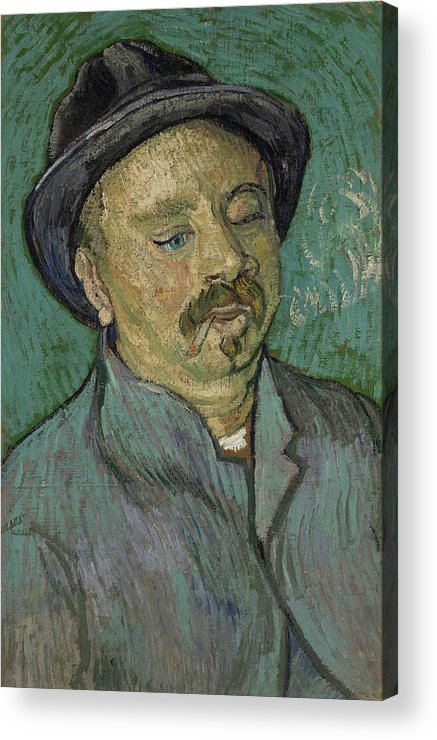 Man Acrylic Print featuring the painting Portrait Of A One Eyed Man Saint Remy De Provence Autumn 1889 Vincent Van Gogh 1853 1890 by Artistic Panda