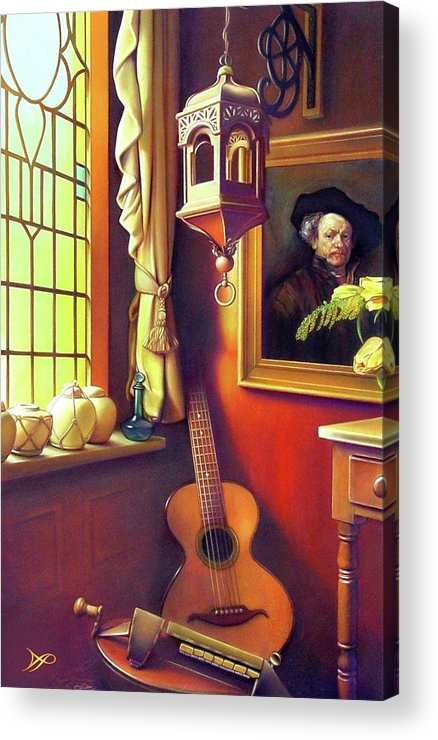 Rembrandt Acrylic Print featuring the painting Rembrandt's Hurdy-gurdy by Patrick Anthony Pierson