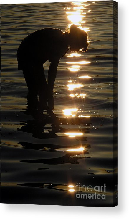 Sunset Acrylic Print featuring the photograph Searching Through The Sparkles by Scott Heister