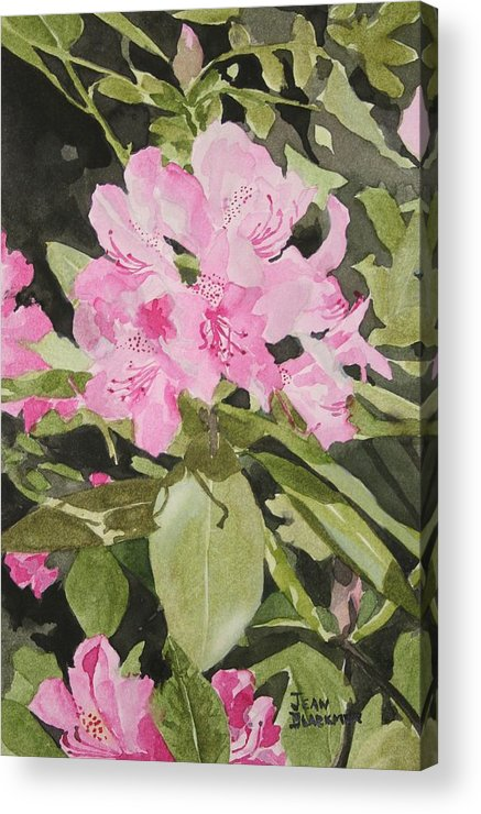 Flowers Acrylic Print featuring the painting Spring At The Cabin by Jean Blackmer