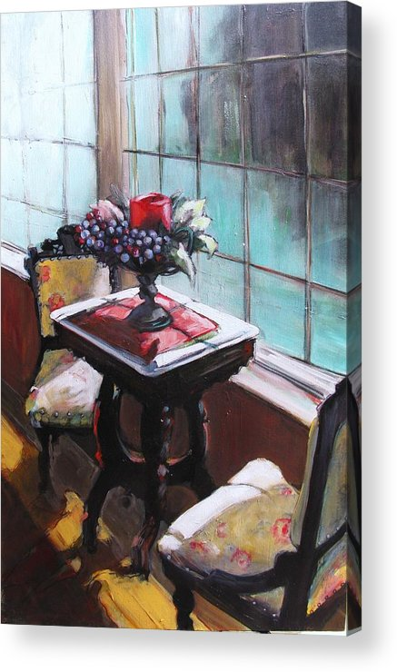 Sitting Room Acrylic Print featuring the painting Still Moment by Michelle Winnie