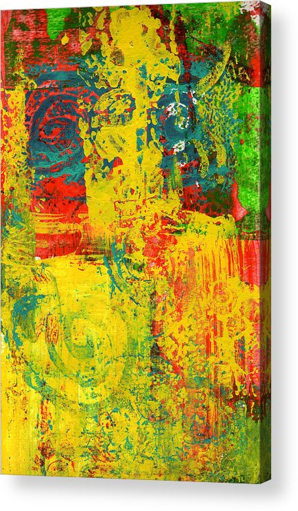 Abstract Acrylic Print featuring the painting The Power Within by Wayne Potrafka