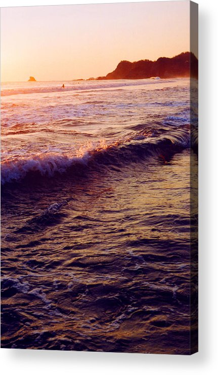 Sunset Acrylic Print featuring the photograph Warm Sunset In Zipolite 3 by Lyle Crump