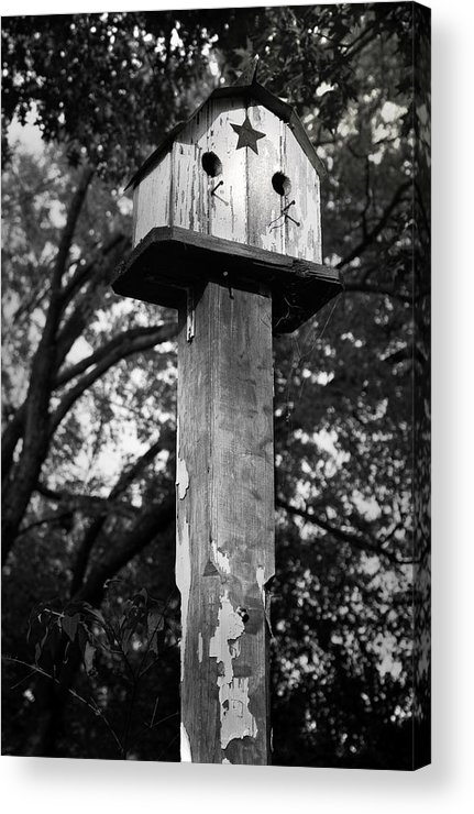 Birdhouse Acrylic Print featuring the photograph Weathered Bird House by Teresa Mucha