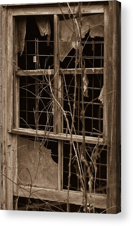Window Acrylic Print featuring the photograph Window Of A Forgotten Mystery by Douglas Barnett