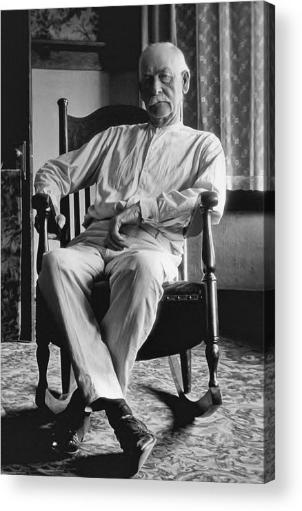 Marshal Acrylic Print featuring the photograph Wyatt Earp 1923 - Los Angeles by Daniel Hagerman
