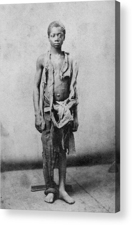 History Acrylic Print featuring the photograph Young Slave During The Civil War by Everett