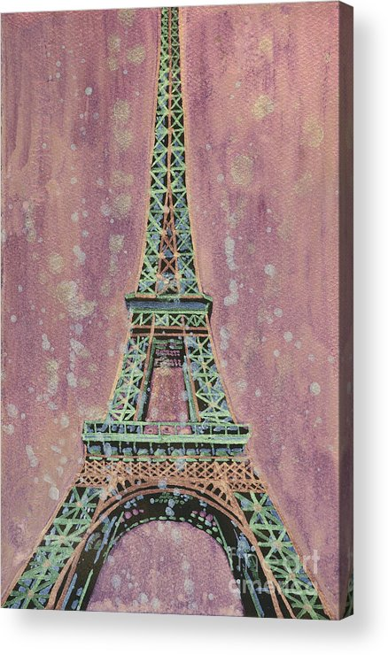 Art For House Acrylic Print featuring the painting Eiffel Tower- France by Ryan Fox