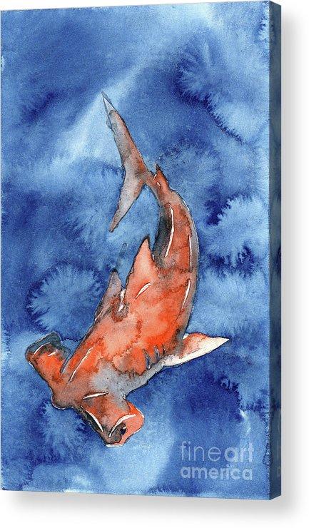 Animal Art Acrylic Print featuring the painting Hammerhead IIi by Ryan Fox