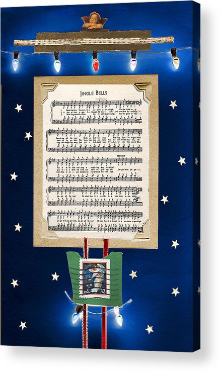 Christmas Acrylic Print featuring the mixed media Christmas Collage by Steve Karol