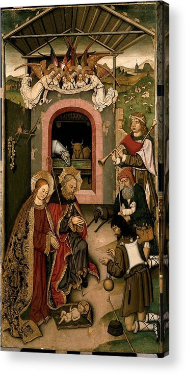 Holy Acrylic Print featuring the photograph Unknown, Crib Altarpiece, 15th Century by Everett