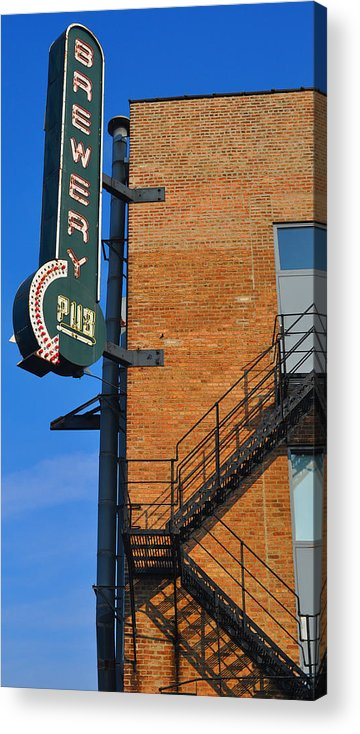 Chicago Acrylic Print featuring the photograph Brewery Pub by Tim Nyberg
