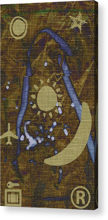 Abstract Acrylic Print featuring the mixed media Crewel Soprano by Rene Avalos