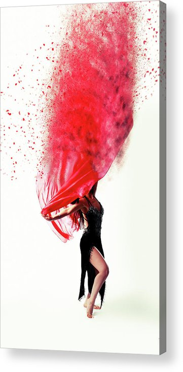 Dance Acrylic Print featuring the photograph Dance Of The Viel by Smart Aviation