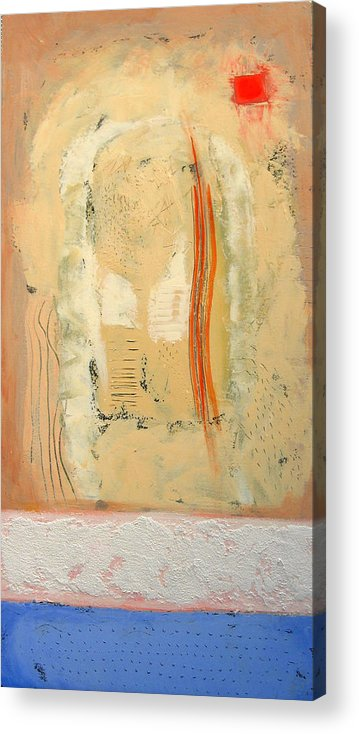 Abstract Acrylic Print featuring the painting Heat by Aliza Souleyeva-Alexander