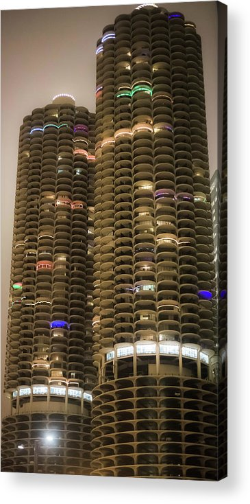 Acrylic Print featuring the photograph Marina Towers by Sue Conwell