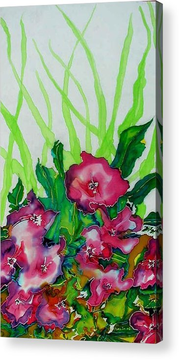 Flora Acrylic Print featuring the painting Spring Celebration 1 by Ferril Nawir