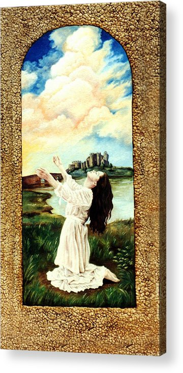 Christian Acrylic Print featuring the painting Surrender by Teresa Carter