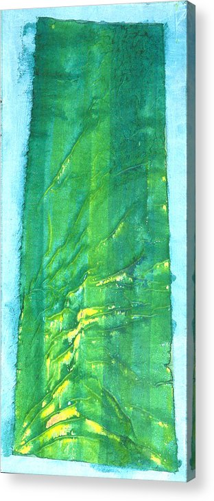 Abstract Painting Acrylic Print featuring the painting Armstrong Woods by Asha Carolyn Young