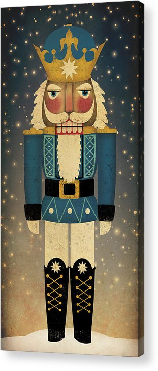 Christmas Acrylic Print featuring the painting Nutcracker by Ryan Fowler
