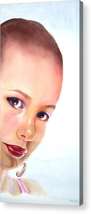 Portrait Acrylic Print featuring the painting Christine by Fiona Jack