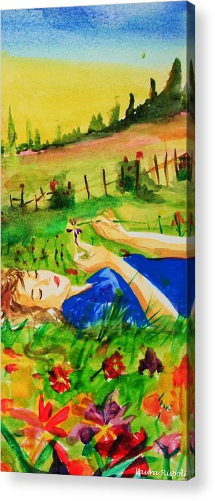 Landscape Acrylic Print featuring the painting Dreaming by Laura Rispoli