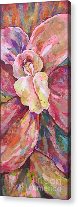 Orchid Acrylic Print featuring the painting The Orchid by Shadia Derbyshire