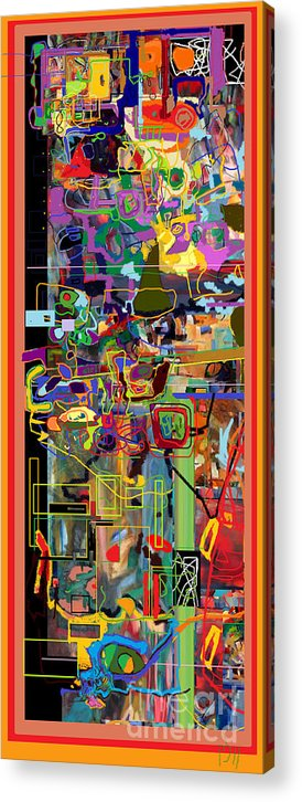 Torah Acrylic Print featuring the digital art The Tzaddik Lives On Emunah 2 by David Baruch Wolk