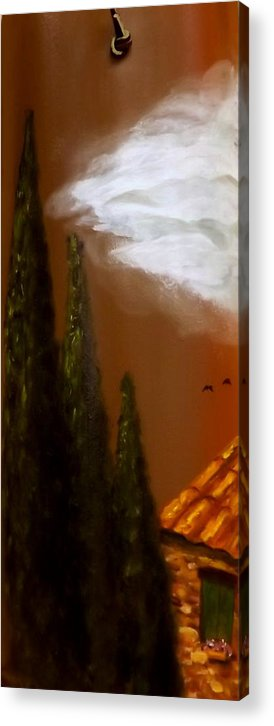 Tuscany Acrylic Print featuring the painting Tuscan Terra Cotta by Gino Didio