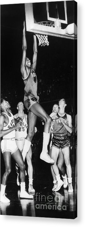 1956 Acrylic Print featuring the photograph Wilt Chamberlain (1936-1999) by Granger