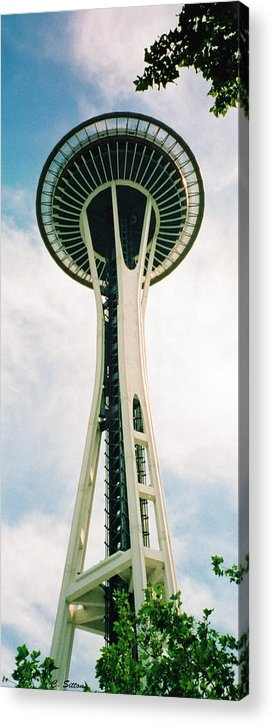 Seatle Photographs Acrylic Print featuring the photograph Seatle Space Needle by C Sitton