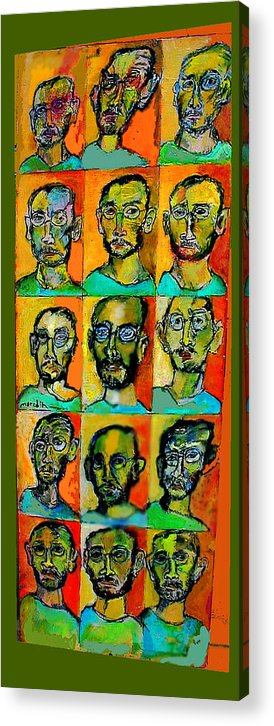 Self Portraits Acrylic Print featuring the mixed media All About Me by Noredin Morgan
