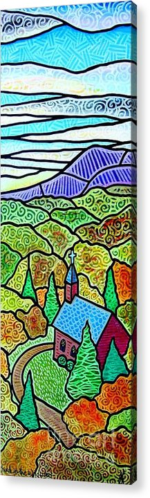 Church Acrylic Print featuring the painting Church In The Wildwood by Jim Harris
