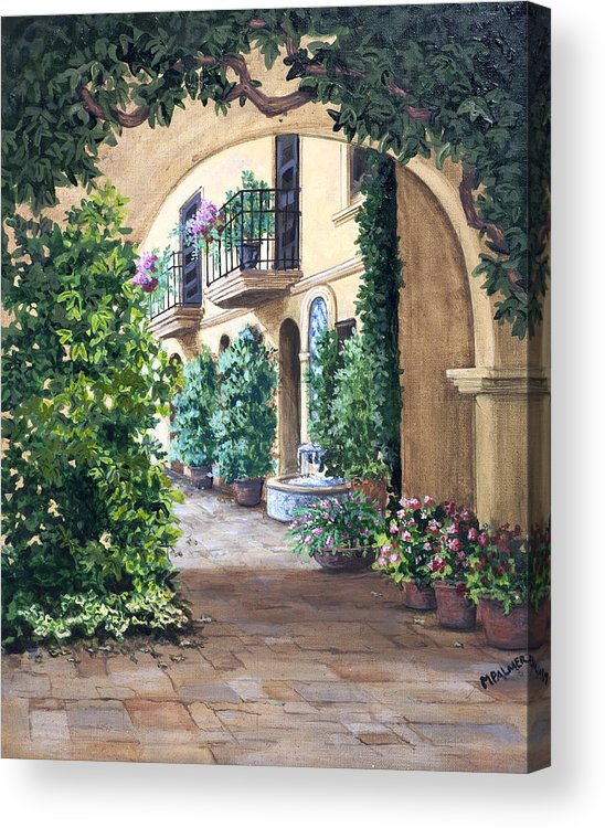 Archway Acrylic Print featuring the painting Sedona Archway by Mary Palmer