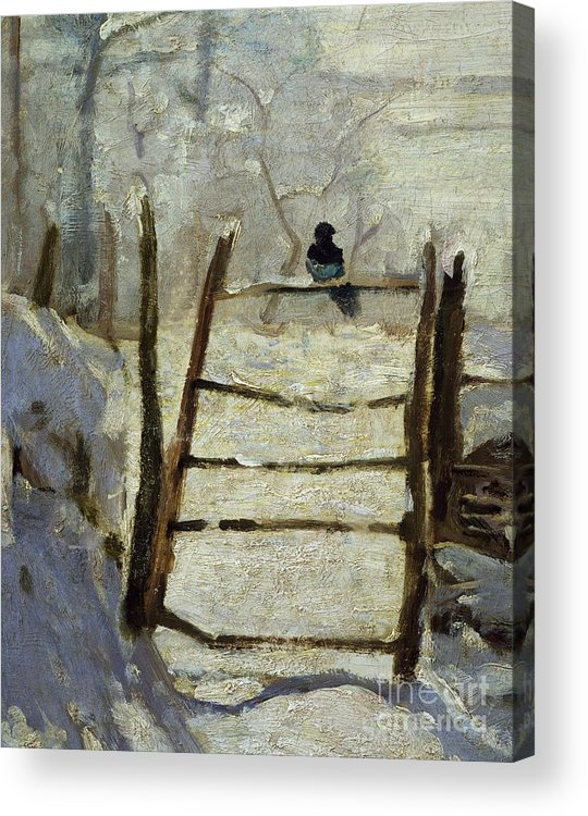 Art; Painting; 19th Century Painting; Seasons; Europe; France; Monet Claude; Winter; Winter Acrylic Print featuring the painting The Magpie by Claude Monet