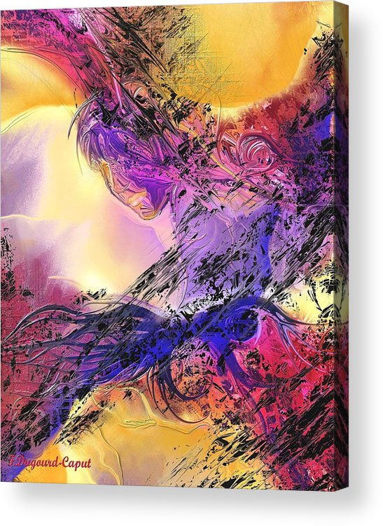 Abstract Acrylic Print featuring the digital art Presence by Francoise Dugourd-Caput