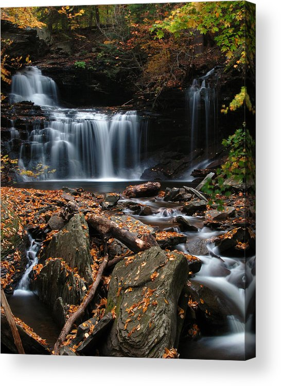 Waterfall Acrylic Print featuring the photograph R. B. Ricketts Falls by Dan Myers