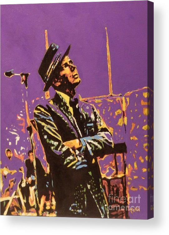 Frank Acrylic Print featuring the painting Frank by Laura Toth